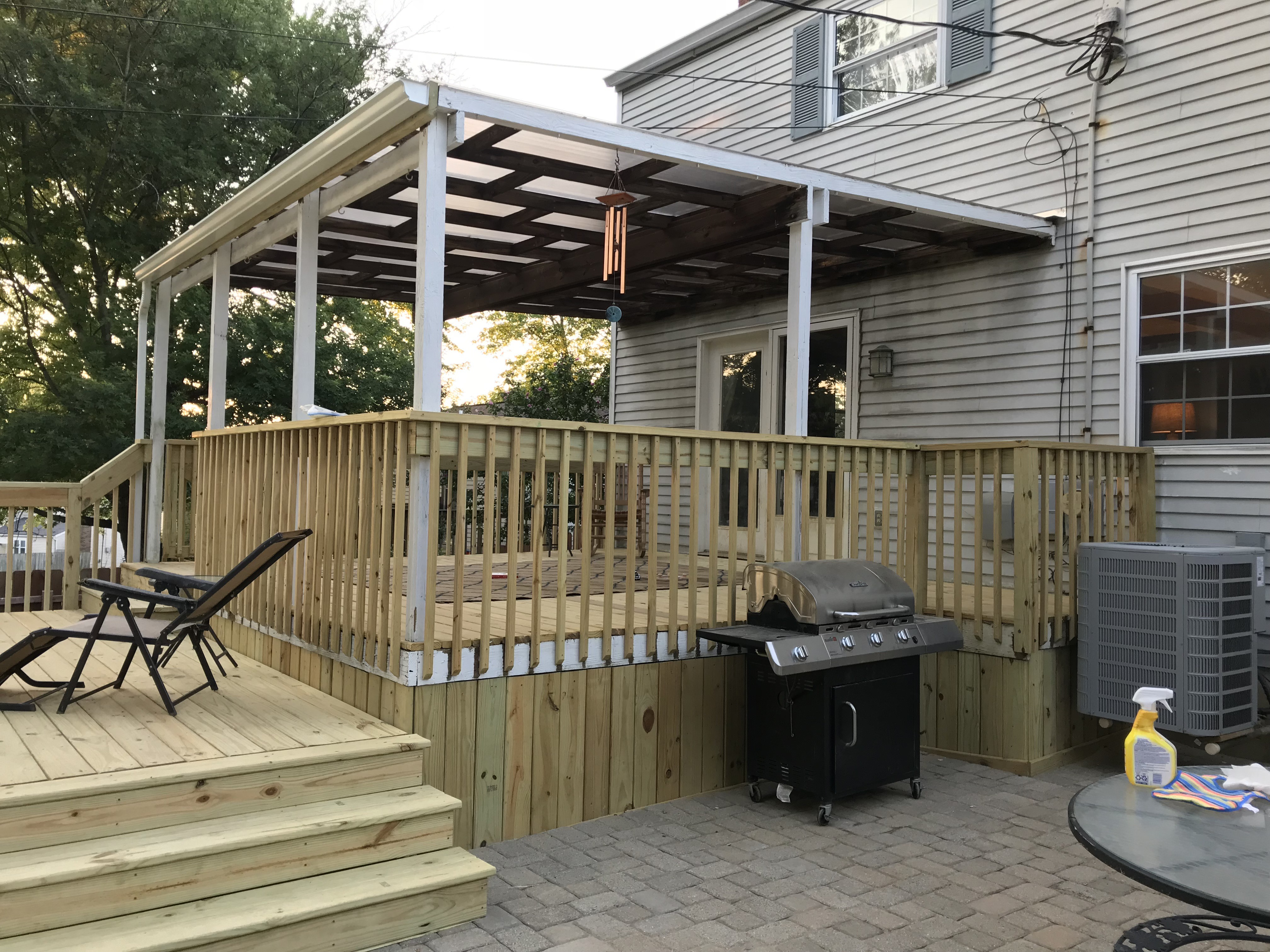 Polycarbonate Roof Reburb Existing Deck Amp Patio Cover